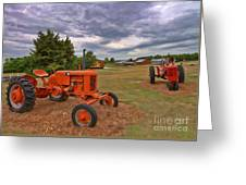 Tractors - Case - Massey Harris Greeting Card
