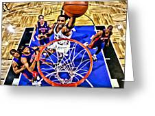 Tracy Mcgrady Painting Greeting Card