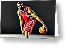 Tracy Mcgrady Portrait Greeting Card