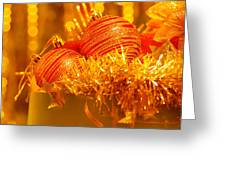 Traditional Christmas Decoration Greeting Card by Anna Om