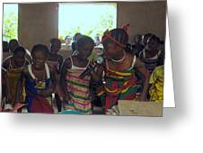 Traditional Dance And Singing Greeting Card