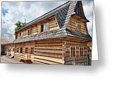 Traditional House In The High Tatra Mountains Poland Greeting Card