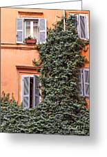 Traditional House Rome Italy Greeting Card