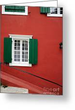 Traditional Red House Greeting Card