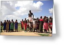 Traditional Samburu Dance Greeting Card