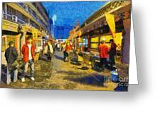 Traditional Shopping Area Greeting Card
