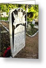 Trafalgar Cemetery Headstone Greeting Card