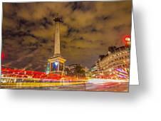 Trafalgar Light Trails Greeting Card