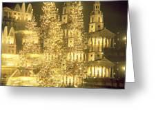 Trafalgar Square Christmas Lights Greeting Card