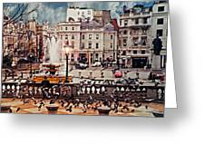 Trafalgar Square London Greeting Card by Diana Angstadt