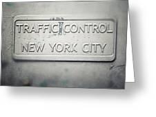 Traffic Control Greeting Card