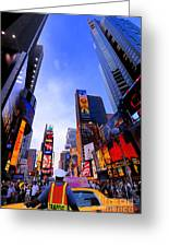 Traffic Cop In Times Square New York City Greeting Card