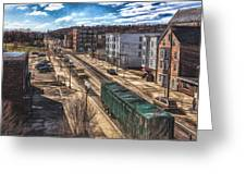 Traffic On Lincoln Street Greeting Card