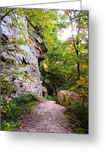 Trail Beside The Cliff Wildcat Den State Park Greeting Card