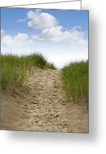 Trail Over The Dune To The Summer Beach Greeting Card
