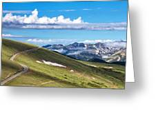 Trail Ridge Road In Rocky Mountain National Park Greeting Card
