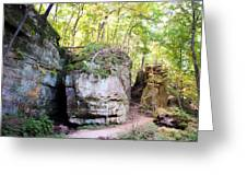 Trail Through The Rocks Wildcat Den State Park Greeting Card