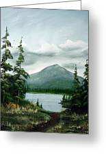 Trail To The Lake Greeting Card
