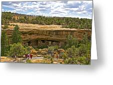 Trail View Of Spruce Tree House On Chapin Mesa In Mesa Verde National Park-colorado Greeting Card