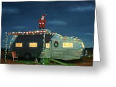 Trailer House Christmas Greeting Card