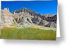 Trailhead For Saddle Pass Trail In Badlands National Park-south Dakota   Greeting Card