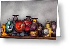 Train - A Collection Of Rail Road Lanterns  Greeting Card