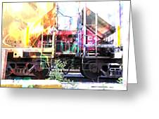 Train Abstract Blend 1 Greeting Card