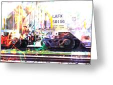 Train Abstract Blend 6 Greeting Card