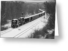 Train Approaching Greeting Card