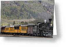 Train Arriving In Silverton Greeting Card