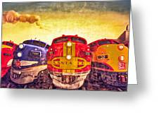 Train Art At Union Station Greeting Card