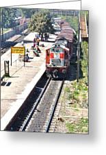Train At Delhi Station Greeting Card