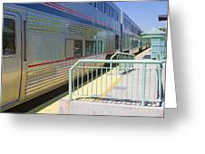Train At Station Stop Greeting Card
