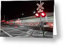 Train Blur  Greeting Card