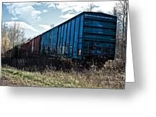 Train Boxcars Greeting Card