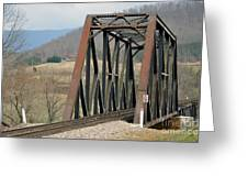 Train Bridge Greeting Card