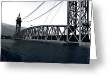 Train Bridge Down Greeting Card
