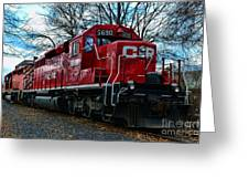 Train - Canadian Pacific 5690 Greeting Card