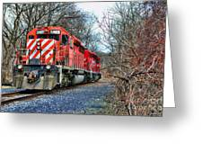 Train - Canadian Pacific Engine 5937 Greeting Card