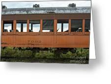 Train Coach Windows Greeting Card