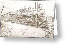 Train Drawing Greeting Card