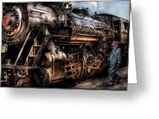 Train - Engine -  Now Boarding Greeting Card