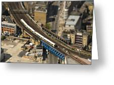 Train In London Greeting Card