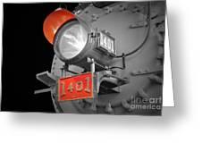 Train Light 1401 Greeting Card