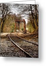 Train Memories Greeting Card by Debra and Dave Vanderlaan