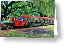 Train - New Orleans City Park Greeting Card