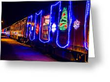 Train Of Lights Greeting Card