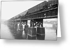 Train On A Trestle Greeting Card