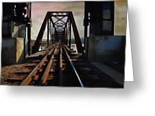 Train Rail Bridge  Greeting Card