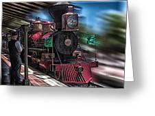 Train Ride Magic Kingdom Greeting Card